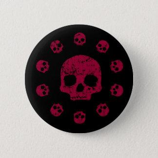 Badge Cercle de bouton de crânes