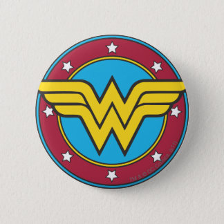 Badge Cercle de la femme de merveille   et logo