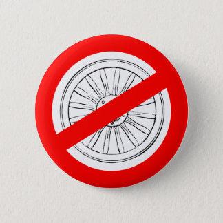 """Badge Cessez de jouer le bouton de """"roues"""""""