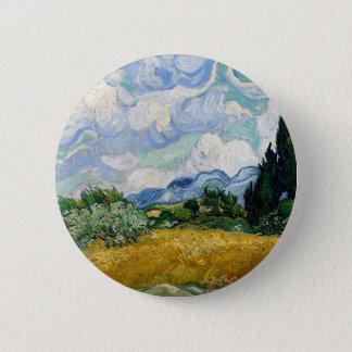 Badge Champ de blé de Vincent van Gogh avec l'art de