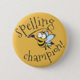Badge Champion de concours d'orthographe