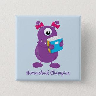 Badge Champion pourpre de Homeschool de monstre