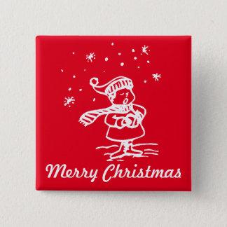 Badge Chant de Noël vintage du pays des merveilles