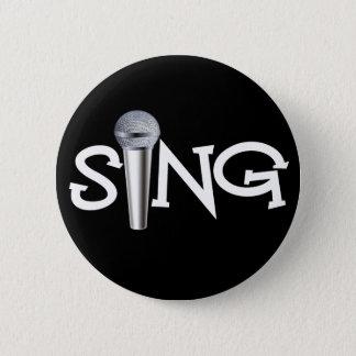 Badge Chantez avec le microphone