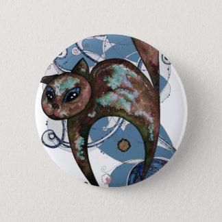 Badge Chat de myrtille
