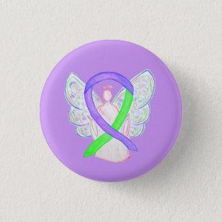 Badge Chaux et boutons pourpres de Pin d'ange de ruban