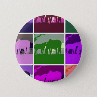 Badge Chevaux multicolores d'art de bruit