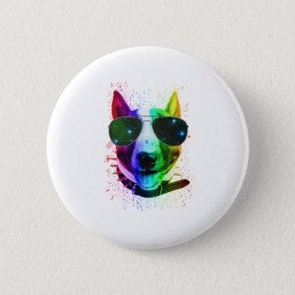 Badge Chien de bull-terrier d'éclaboussure de peinture