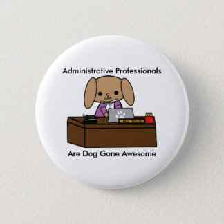 Badge Chien impressionnant administratif de