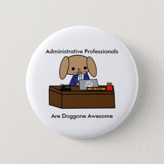 Badge Chien impressionnant administratif M de