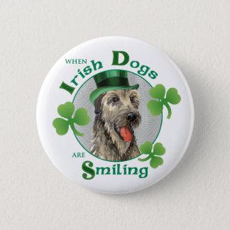 Badge Chien-loup irlandais du jour de St Patrick