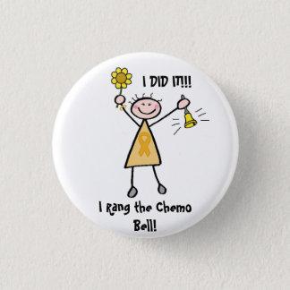 Badge Chimio Bell - ruban d'or de Cancer d'enfance