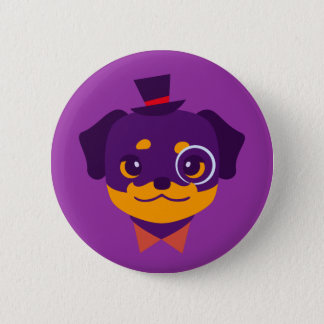 Badge Chiot pourpre de rottweiler de Kawaii