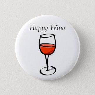 Badge Citation drôle heureuse de consommation de vin de
