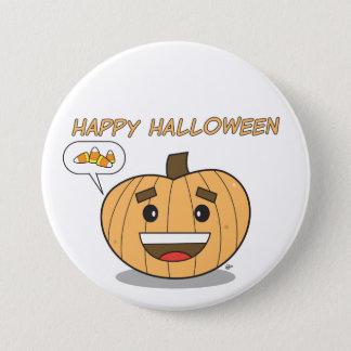 Badge Citrouille heureux de Halloween Kawaii - bouton