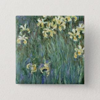 Badge Claude Monet | les iris jaunes