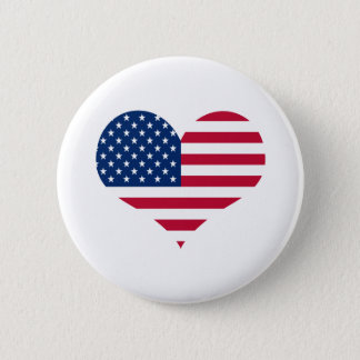 Badge Coeur américain des Etats-Unis de drapeau de