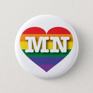 Badge Coeur d'arc-en-ciel de gay pride du Minnesota -