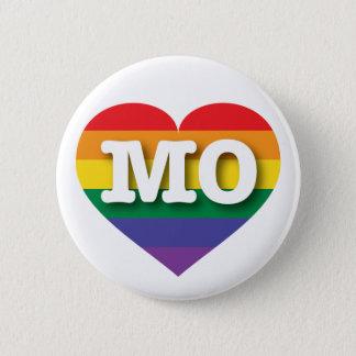 Badge Coeur d'arc-en-ciel de gay pride du Missouri -
