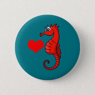 Badge Coeur et hippocampe de vecteur