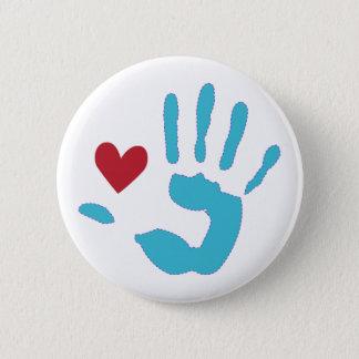 Badge Coeur et main