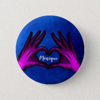 Badge Coeur pourpre de rayon X de main