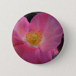 Badge Coeur rose doux de pavot