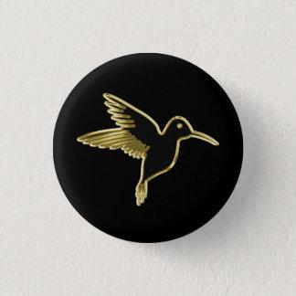 Badge Colibri d'or avec des ailes étirées