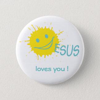 Badge Collection de bouton de Sonburst Jésus