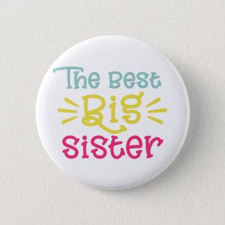 Badge Coloré la meilleure main mignonne de grande soeur