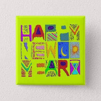 """Badge Conception """"bonne année """" des textes"""