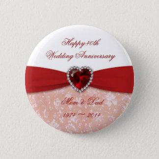 Badge Conception d'anniversaire de mariage de damassé