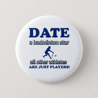 Badge conception de badminton