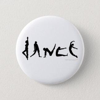 Badge Conception de silhouette de danse de danse