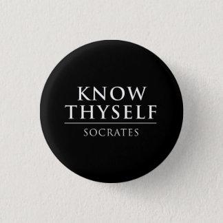 Badge Connaissez Thyself - Socrates