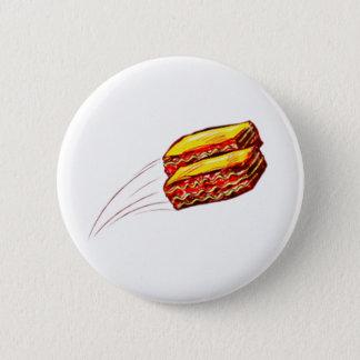 Badge conservez le lasagne voler autour du bouton