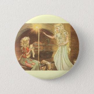 Badge Conte de fées vintage, Cendrillon et marraine