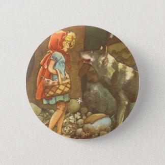Badge Conte de fées vintage, peu de capuchon rouge