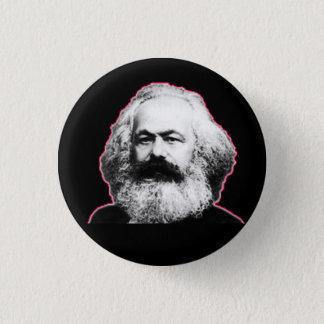 Badge Contour/noir rouges de Karl Marx