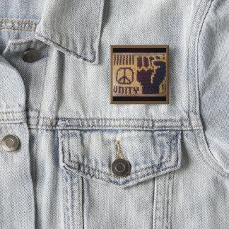 Badge Copie de crochet de poing d'unité de signe de paix
