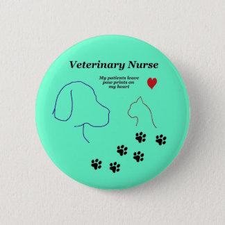 Badge Copies vétérinaires d'Infirmière-Patte sur mon