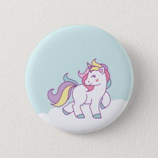 Badge Couleur en pastel de licorne magique mignonne