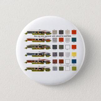 Badge Couleurs approuvées de Chambre de rétros banlieues