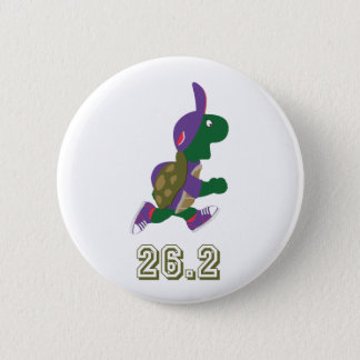 Badge Coureur de tortue de marathon dans le pourpre