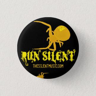Badge Courez le bouton silencieux de logo d'arachnides -