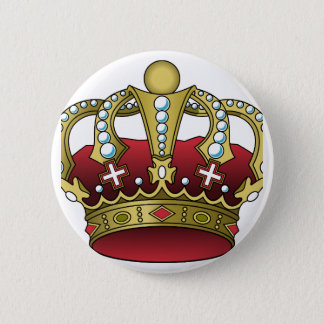 Badge Couronne rouge royale