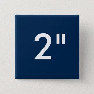 """Badge Coutume 2"""" modèle carré de blanc de bouton de"""