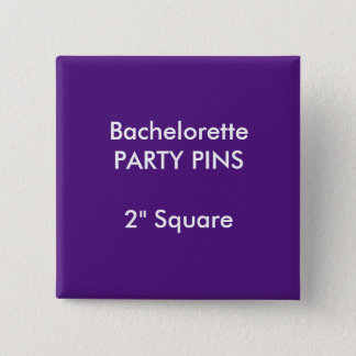 """Badge Coutume 2"""" POURPRE carré de Pin de partie de"""