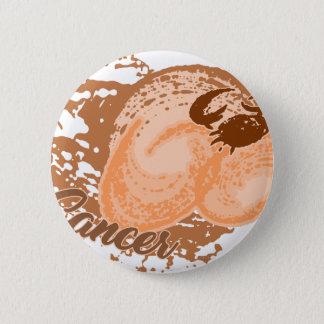 Badge Crabe orange d'horoscope de Cancer