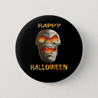 Badge Crâne effrayant de Halloween de revers de noir
